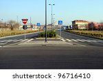 urban landscape with streets... | Shutterstock . vector #96716410