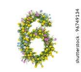 Number 6  Flower Alphabet...
