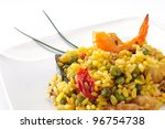paella  typical spanish dish on ... | Shutterstock . vector #96754738