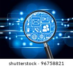 the concept of search of the... | Shutterstock .eps vector #96758821