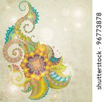 beautiful colorful floral... | Shutterstock . vector #96773878