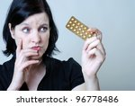 Woman With Anti Baby Pill