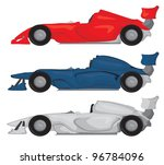 formula race car set | Shutterstock .eps vector #96784096