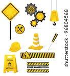 set of construction elements | Shutterstock .eps vector #96804568