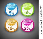 discount labels. vector | Shutterstock .eps vector #96804628