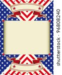 american flag frame background. ... | Shutterstock .eps vector #96808240