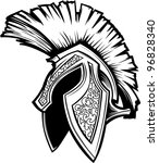 Vector Graphic of a Greek Spartan or Trojan Helmet