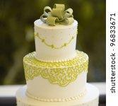 closeup of wedding cake top... | Shutterstock . vector #96833671