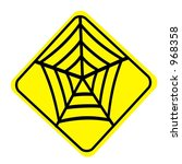 yellow diamond spider web sign... | Shutterstock . vector #968358