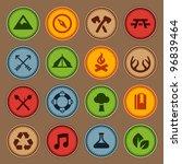 Set Of Merit Achievement Badge...