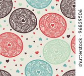 lacy circles with hearts... | Shutterstock .eps vector #96839506