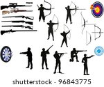 illustration with set of men... | Shutterstock .eps vector #96843775
