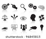strategy concepts icons set | Shutterstock .eps vector #96845815