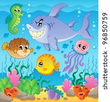 image with undersea theme 3  ... | Shutterstock .eps vector #96850759