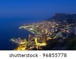 Monaco, Monte Carlo by night - stock photo