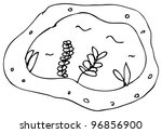 cartoon doodle of a pond | Shutterstock . vector #96856900