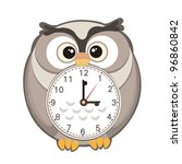 cute cartoon clock | Shutterstock .eps vector #96860842