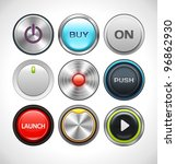 vector buttons set for web and... | Shutterstock .eps vector #96862930