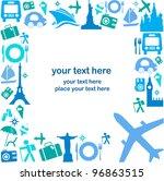 travel | Shutterstock .eps vector #96863515
