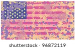 distressed grunge usa flag in...