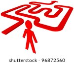 man in labyrinth | Shutterstock . vector #96872560