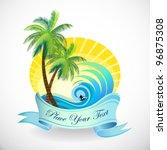 sun  sand and surfing holidays... | Shutterstock .eps vector #96875308