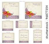 illustration of set of wedding... | Shutterstock .eps vector #96877354