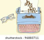 writer desk | Shutterstock .eps vector #96883711
