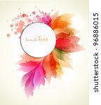 Abstract Flora Background...