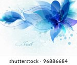 invitation vintage card with... | Shutterstock .eps vector #96886684