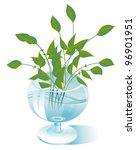 a few stalks of green plants... | Shutterstock .eps vector #96901951