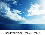ocean and perfect sky | Shutterstock . vector #96902980