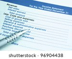 image of income statement ...   Shutterstock . vector #96904438