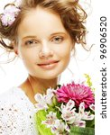 portrait of  smiling beautiful... | Shutterstock . vector #96906520