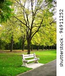 bench in the park | Shutterstock . vector #96911252