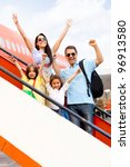 happy family going on holidays... | Shutterstock . vector #96913580