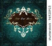 Elegant Vintage Rococo Label I...