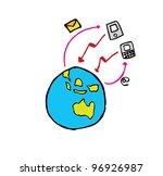 cloud computing concept... | Shutterstock .eps vector #96926987
