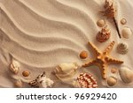 Sea Shells With Sand As...