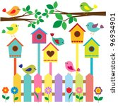 collection of colorful birds...   Shutterstock .eps vector #96934901