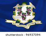 flag of connecticut state... | Shutterstock . vector #96937094