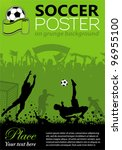 soccer poster with players and... | Shutterstock .eps vector #96955100