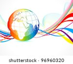 abstract colorful globe... | Shutterstock .eps vector #96960320