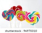 heart shape swirl  lollipop on... | Shutterstock . vector #96970310