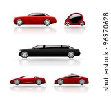 set of car icons. vector cars. | Shutterstock .eps vector #96970628
