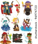 cartoon pirate icon set | Shutterstock .eps vector #96974723