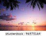 Sea Beach Sunset Background...