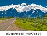 Empty Road To Grand Teton...
