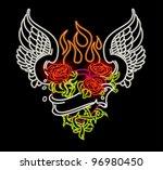 Winged Heart In Neon
