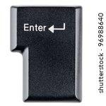 enter key on white background